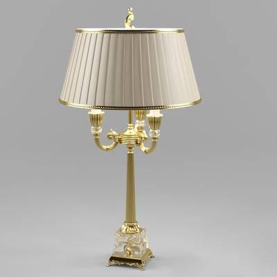 2000套高精3D单体模型, 欧式, 台灯, 灯饰