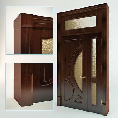 2000套高精3D单体模型, 欧式, 子母门, 门