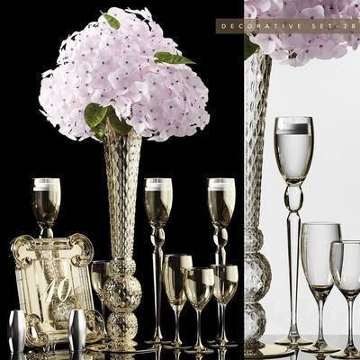 2000套高精3D单体模型, 欧式, 古典风格, 花瓶, 摆件