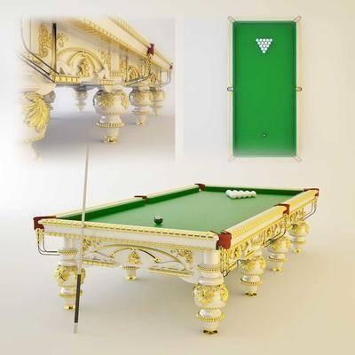 下得乐品牌模型库, 欧式, 桌球桌