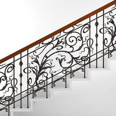 2000套高精3D单体模型, 下得乐品牌模型库, 欧式, 楼梯, 扶手, 栏杆
