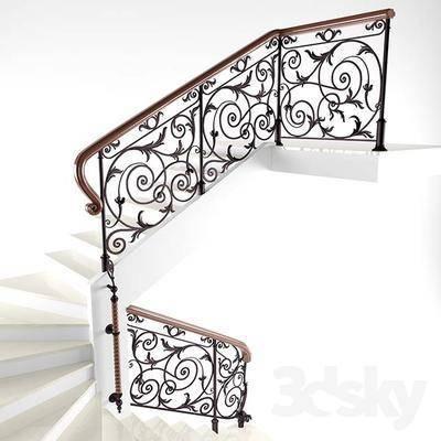 2000套高精3D单体模型, 欧式, 楼梯, 扶手, 栏杆