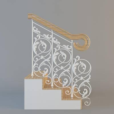 2000套高精3D单体模型, 欧式, 楼梯, 栏杆, 扶手