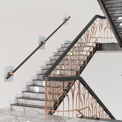 2000套高精3D单体模型, 欧式, 楼梯
