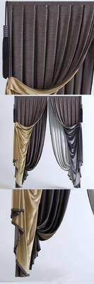 2000套国外模型, 欧式, 窗帘