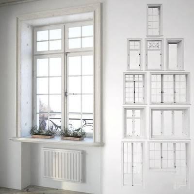 下得乐品牌模型库, 欧式, 窗户