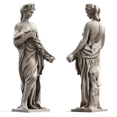 2000套高精3D单体模型, 欧式, 雕塑, 摆件