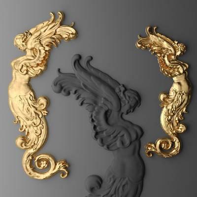 2000套国外模型, 欧式, 金属雕花, 雕花