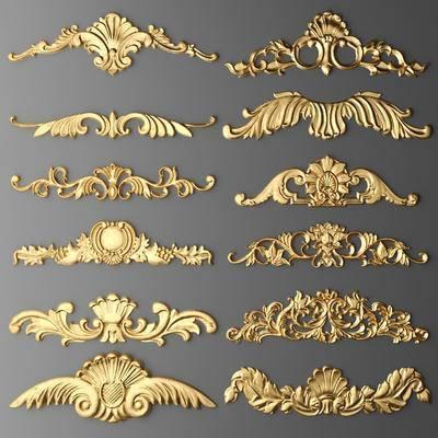 2000套国外模型, 欧式, 金属, 雕花, 金属雕花