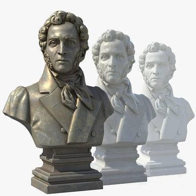 2000套高精3D单体模型, 欧式, 铜质雕塑, 雕塑, 摆件