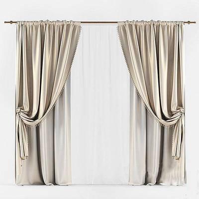 2000套国外模型, 现代, 窗帘, 丝绸窗帘