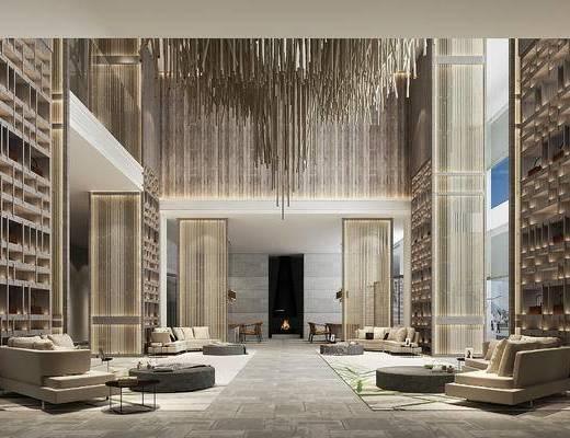 下得乐2019季千套模型, 现代, 酒店大厅