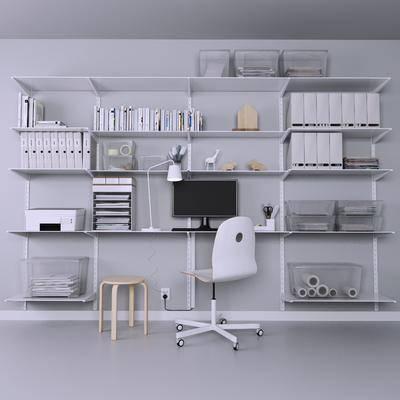 2000套国外模型, 现代, 办公桌, 办公椅, 书架