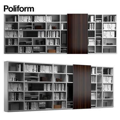 下得乐品牌模型库, 现代, 书籍, 书架