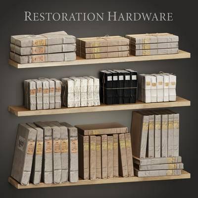 2000套高精3D单体模型, 现代, 书籍, 书架, 装饰架