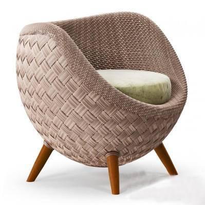 2000套高精3D单体模型, 现代, 休闲沙发, 沙发, 单人沙发