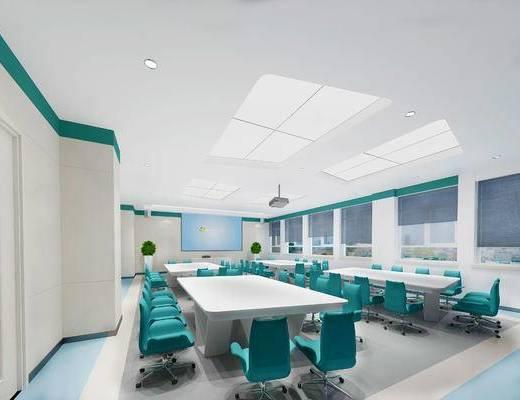 下得乐2019季千套模型, 现代, 会议室, 会议桌, 单椅