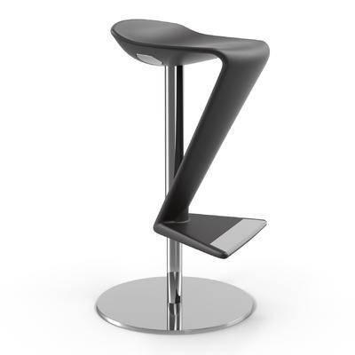 下得乐品牌模型库, 现代, 吧椅, 单椅