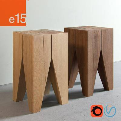 2000套高精3D单体模型, 现代, 凳子