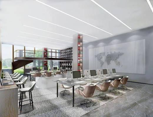 下得乐2019季千套模型, 现代, 办公区