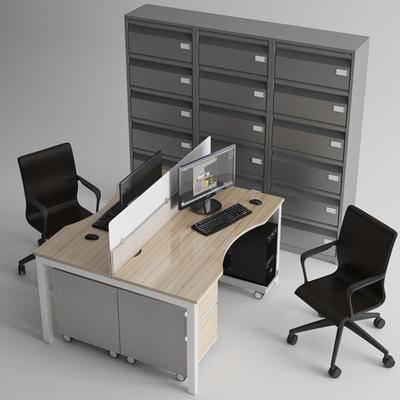 现代, 办公桌, 办公椅