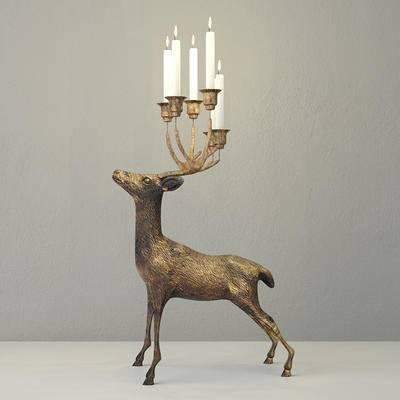 2000套高精3D单体模型, 现代, 烛台, 装饰灯, 动物型烛台