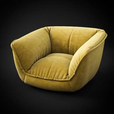2000套国外模型, 北欧, 单人沙发, 沙发