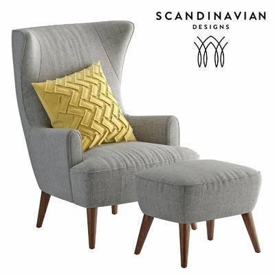 2000套高精3D单体模型, 北欧, 单人沙发