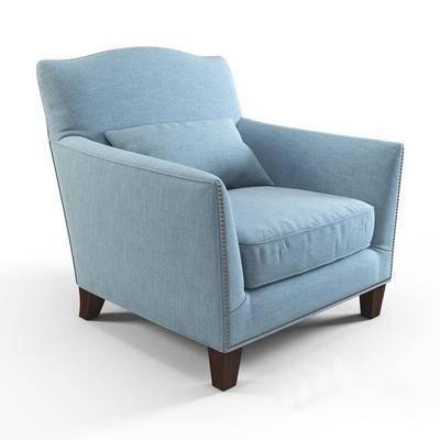 2000套高精3D单体模型, 北欧, 单人沙发, 沙发