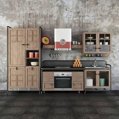 2000套高精3D单体模型, 北欧, 厨房, 橱柜, 摆件