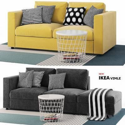2000套高精3D单体模型, 北欧, 双人沙发, 沙发