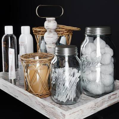 北欧, 玻璃瓶, 器皿, 摆件