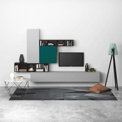 北欧, 电视柜, 装饰柜