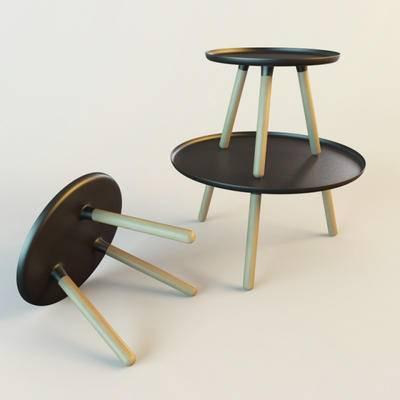 2000套高精3D单体模型, 北欧, 茶几, 边几, 圆几