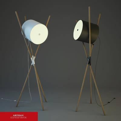 2000套高精3D单体模型, 北欧, 落地灯, 灯饰