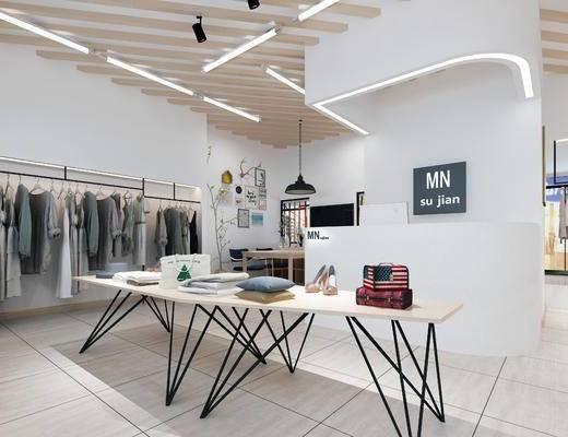 现代, 北欧风, 服装店