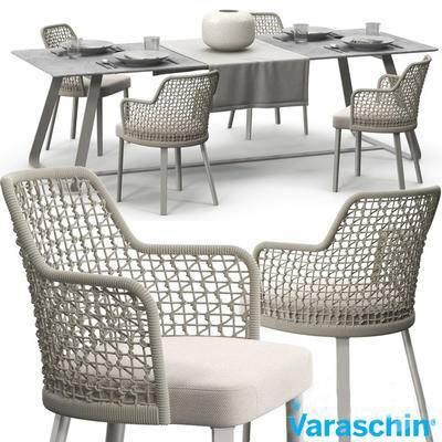 2000套高精3D单体模型, 北欧, 餐桌, 单椅, 桌椅组合