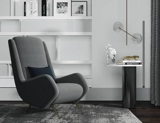 下得乐2019季千套模型, 现代, 单人沙发, 茶几, 沙发