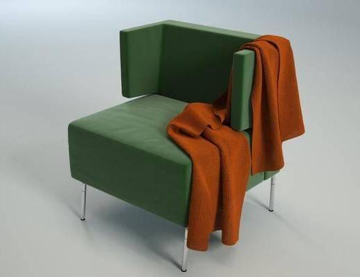 2000套国外模型, 现代, 单人沙发, 沙发