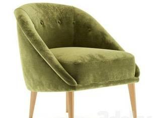 现代单人绿色沙发