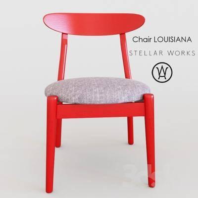 下得乐品牌模型库, 现代, 单椅, 椅子