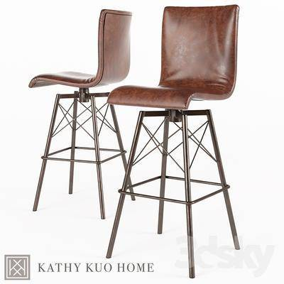 下得乐品牌模型库, 现代, 单椅, 吧椅