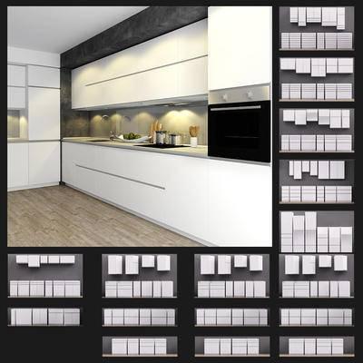 2000套高精3D单体模型, 现在, 厨房, 橱柜