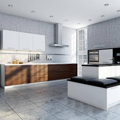 现代, 厨房, 橱柜