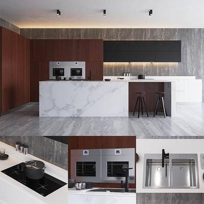 2000套高精3D单体模型, 现代, 橱柜, 厨房