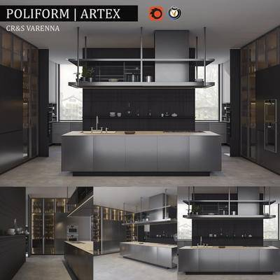 2000套高精3D单体模型, 现代, 厨房, 橱柜