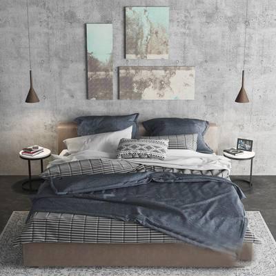 现代, 双人床, 床具