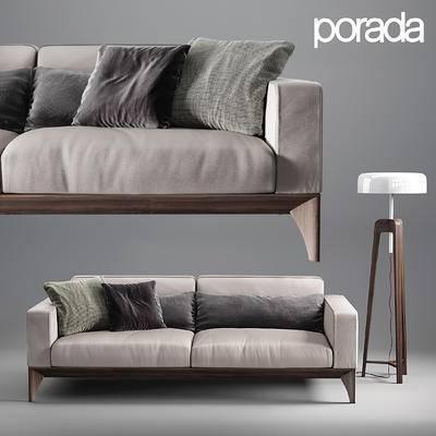 2000套国外模型, 现代, 双人沙发, 沙发