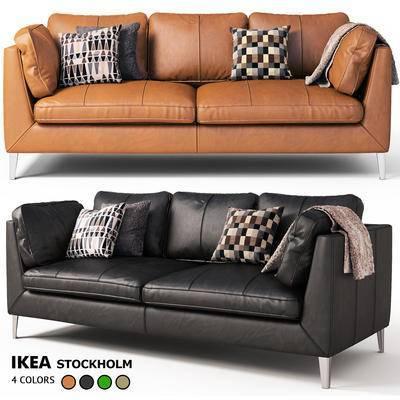 下得乐品牌模型库, 现代, 双人沙发, 沙发