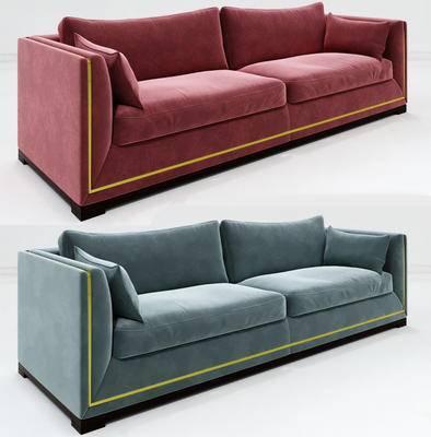 2000套高精3D单体模型, 现代, 双人沙发, 沙发